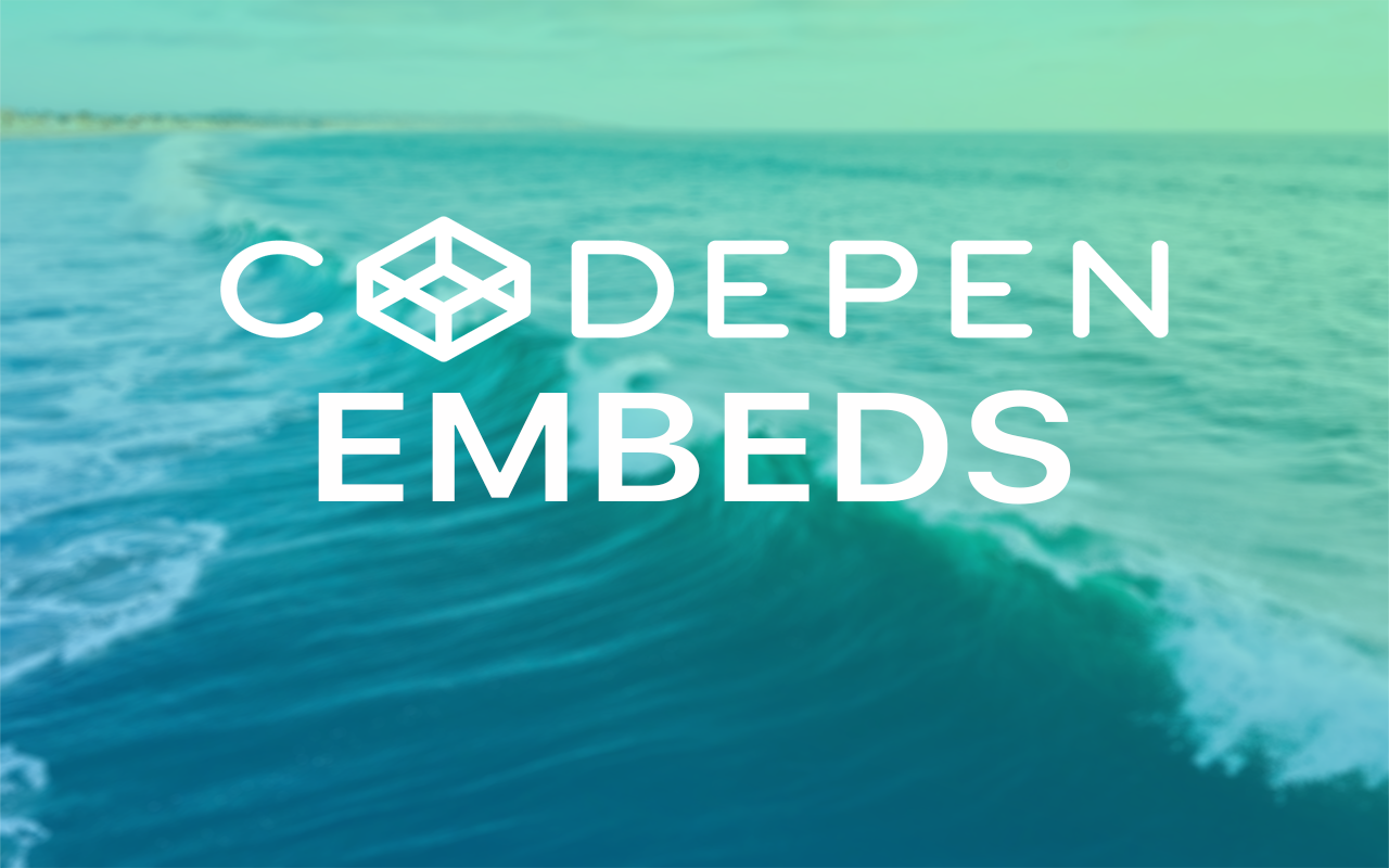 CodePen Embeds - a Statamic Addon