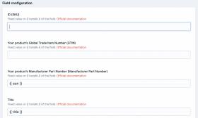 Google Merchant Feed Screenshot 1