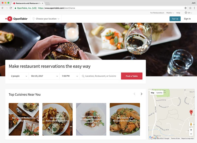 OpenTable's marketing site runs on Statamic. Neat!