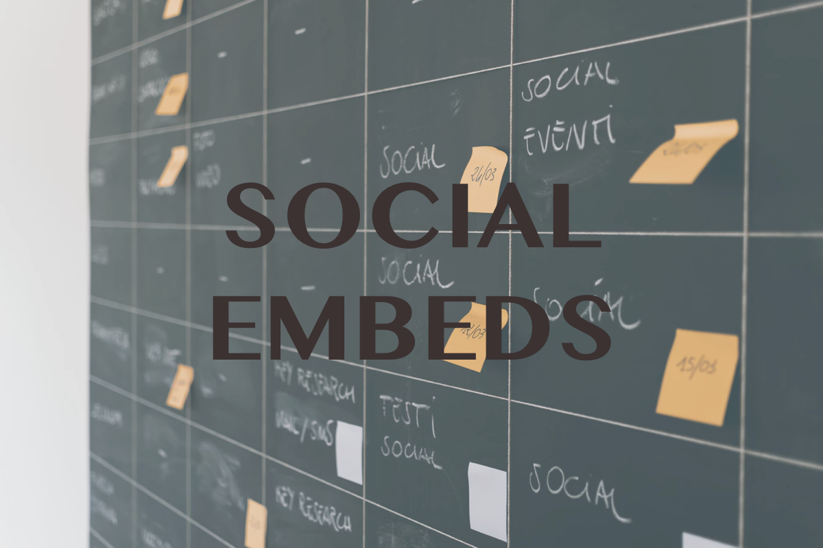 Social Embeds